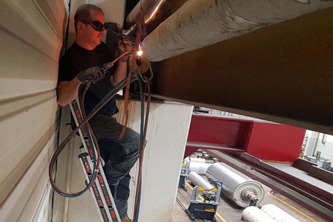 Reparatur Dampfleitung