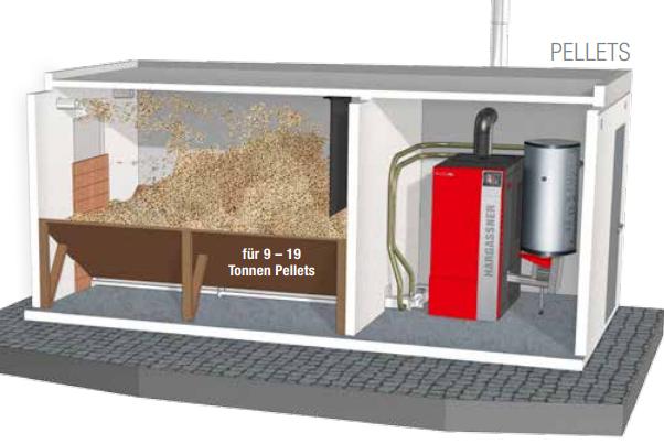 Pelletskesselanlage 60 KW für 20 Wohnungen