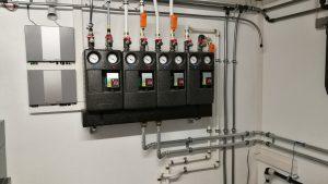 Heizbaer Projekt Hargassner Heizungsverteileranlage.