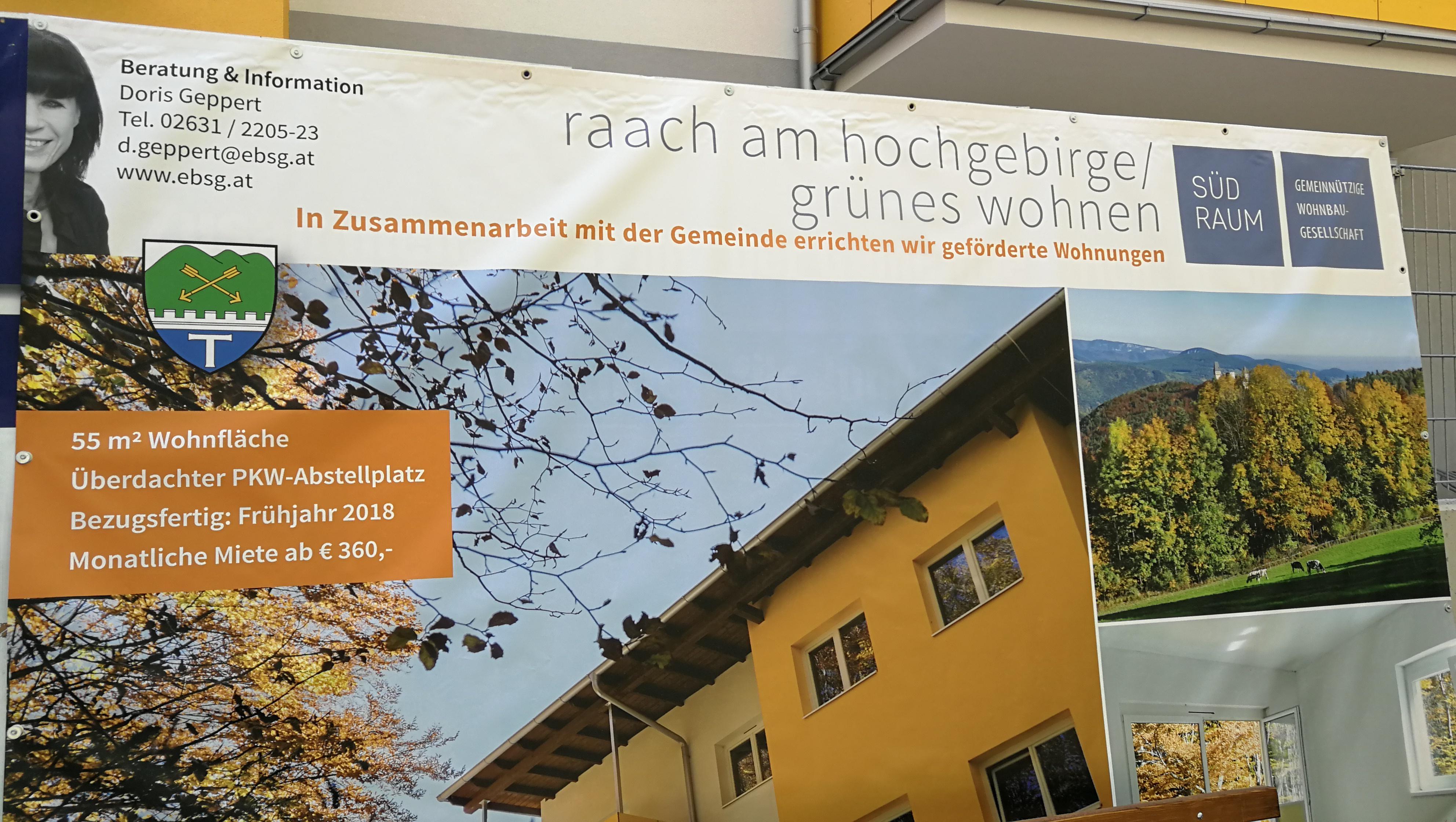 Heizbaer ist Projektpartner bei grünes Wohnen in Raach