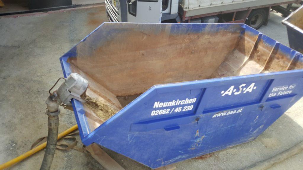 Abwassertank für Bohrwasser und Spuelreste